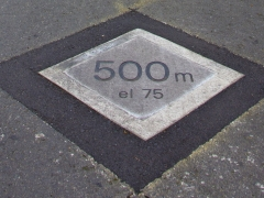 Distance/elevation markers